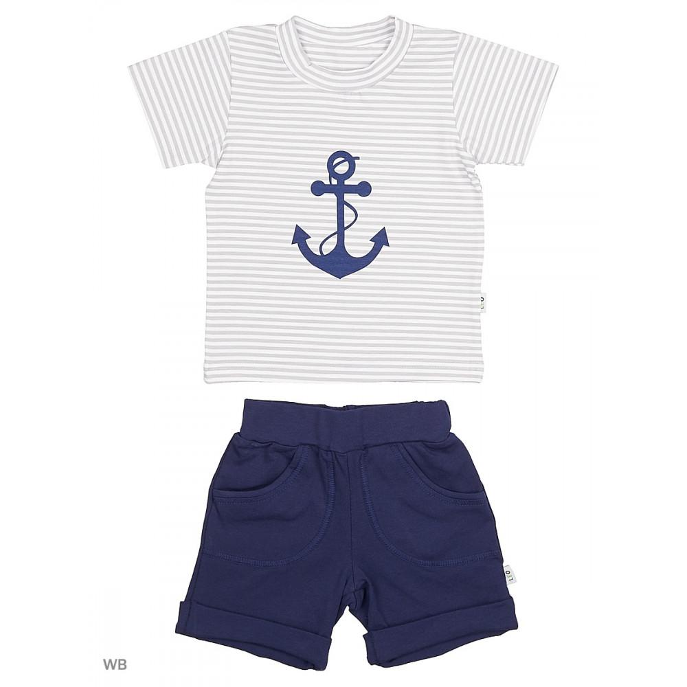 """1515-8 Комплект для мальчика """"Юнга"""" (футболка+шорты)"""