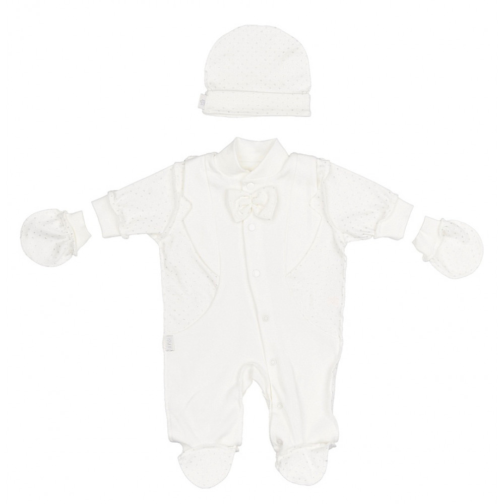 """1531-0 Комплект """"Маленький принц"""" (комбинезон+шапочка+рукавички)"""