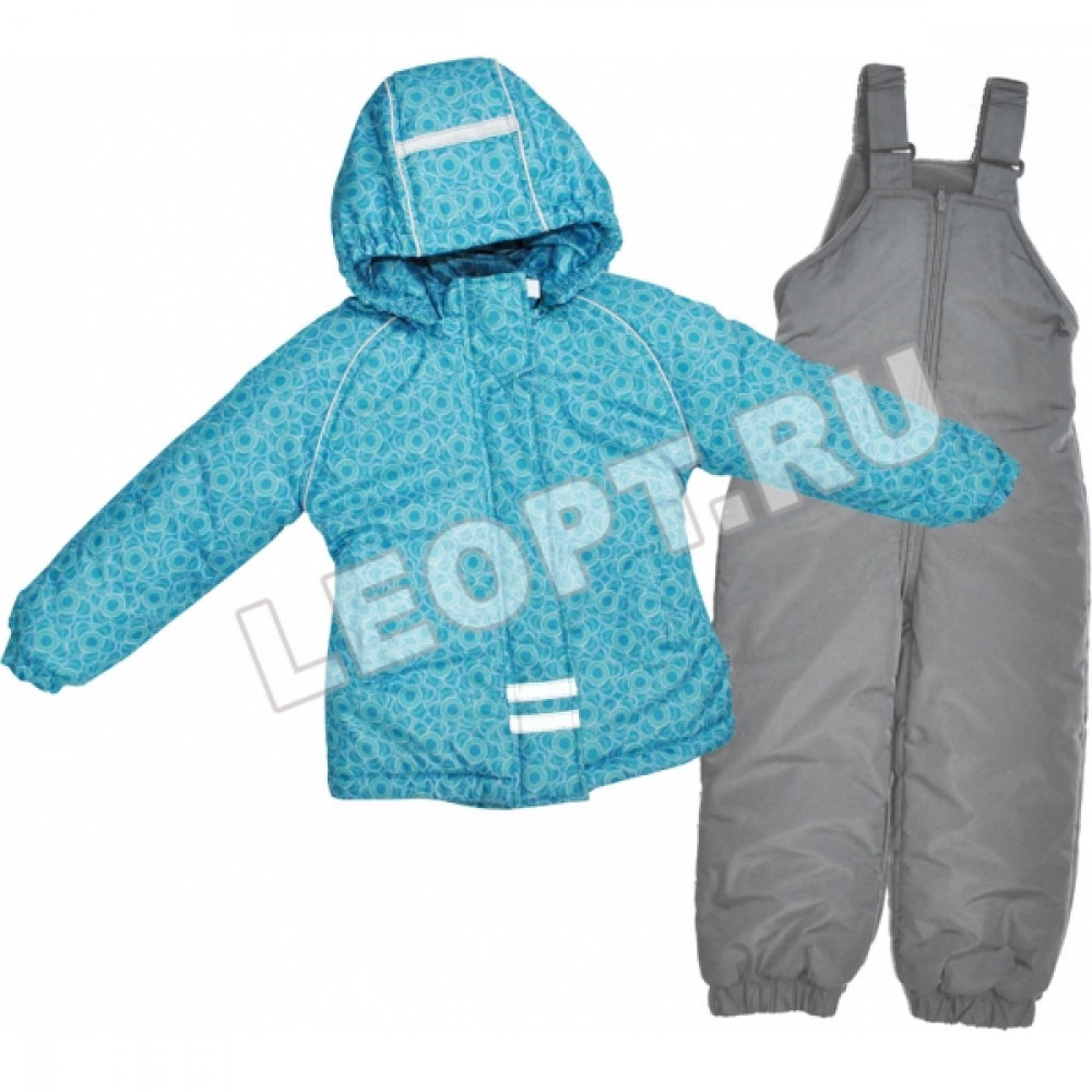РАСПРОДАЖА Комплект для девочки, куртка (мех)+ полукомбинезон